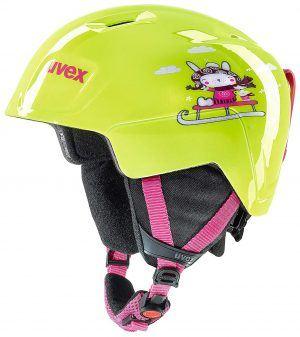 kids lime ski helmet