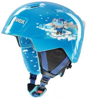 kids blue ski helmet