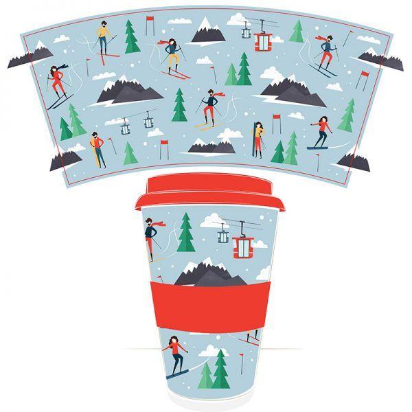 peak season ski travel mug