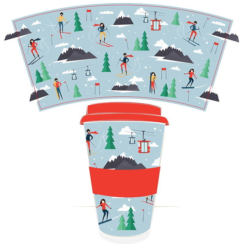 peak season ski travel mug