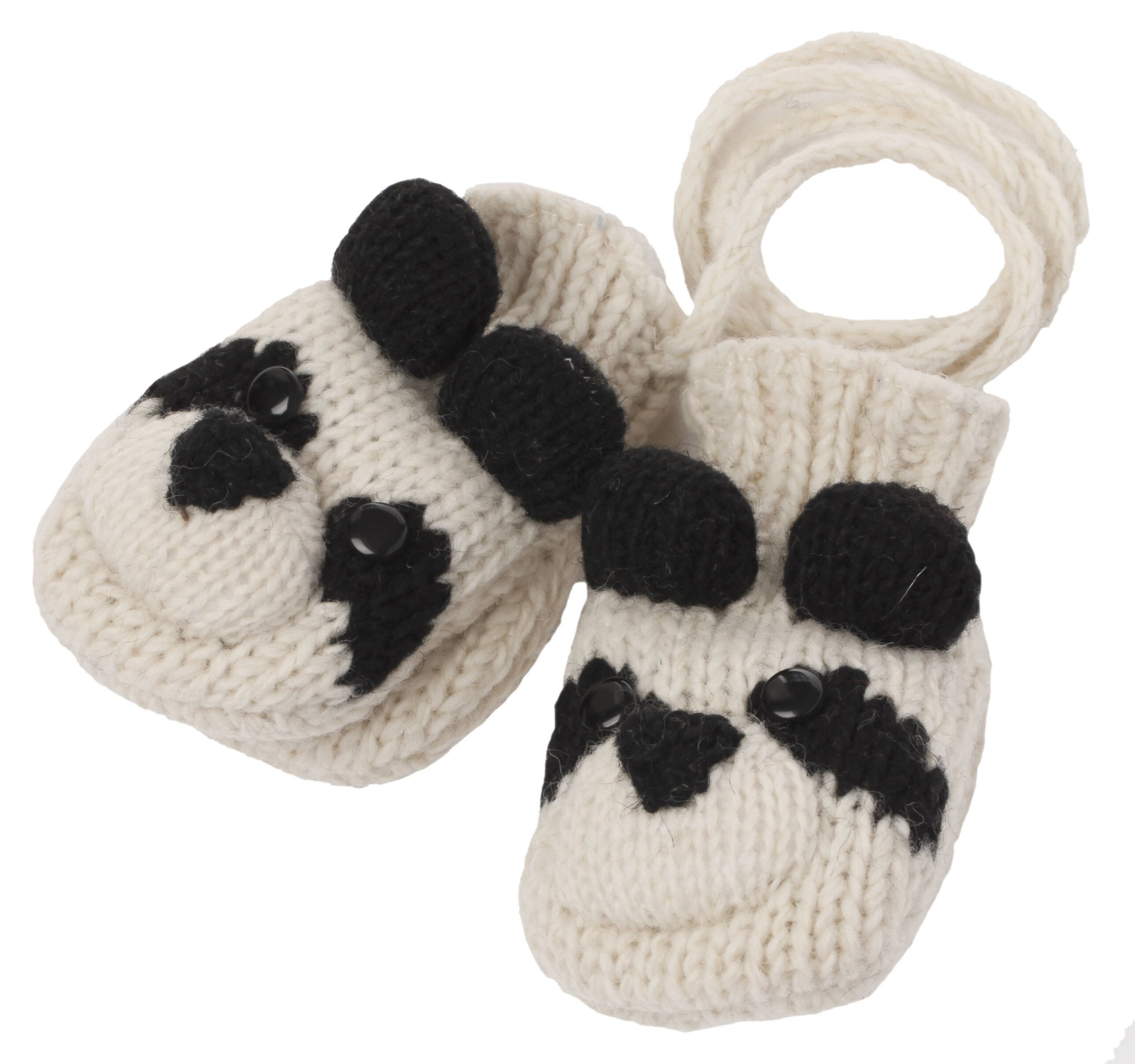 cute panda knitted mittens
