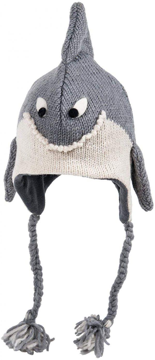 cute shark knitted hat