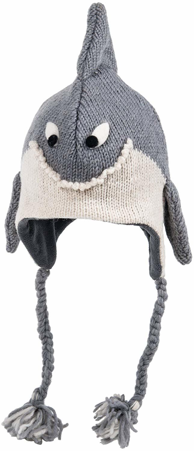 cute shark knitted hat