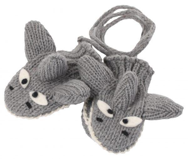 cute shark wool mittens