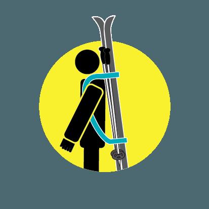 Skiweb Ski Carrier Strap & Ski Boot Carrier