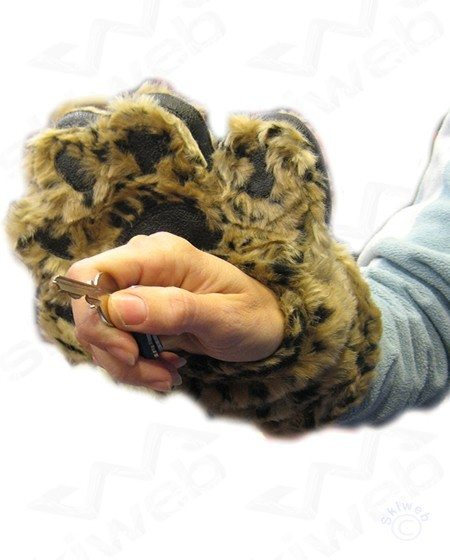Bear Faux Fur Mittens
