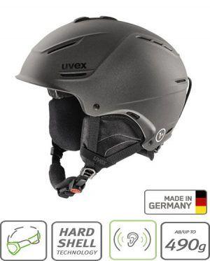 uvex matt black helmet
