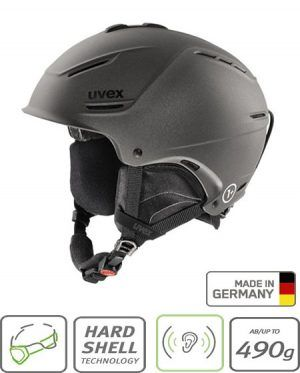 uvex matt black helmet