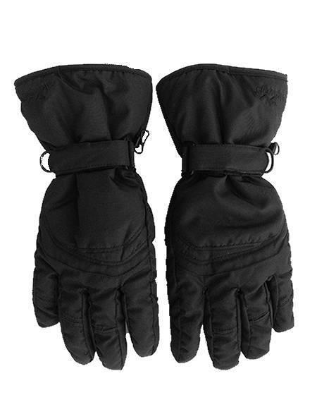 blakc ski gloves