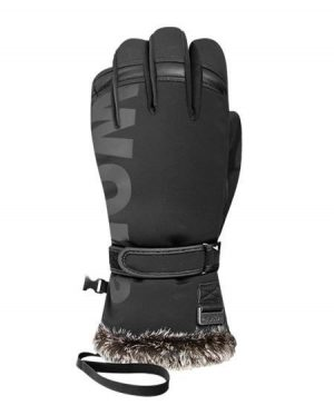 black ski gloves