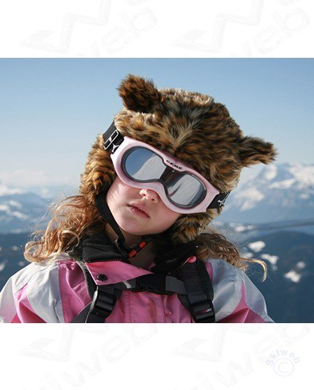leopard ski helmet cover