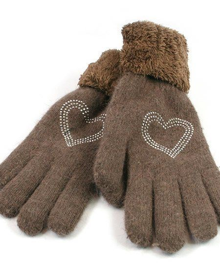 Heart Knitted gloves