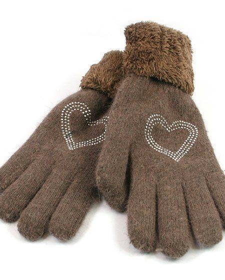 Heart Knitted gloves