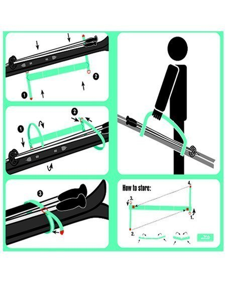 How to Use Skiweb Childs Ski Carrier