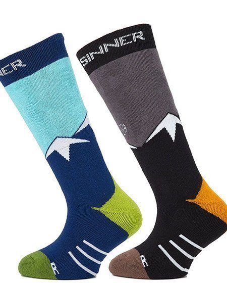 ski socks with mountains