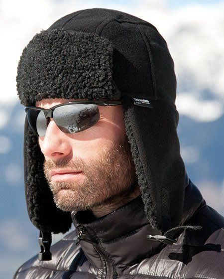 black sherpa hat