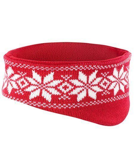 Snowflake red headband