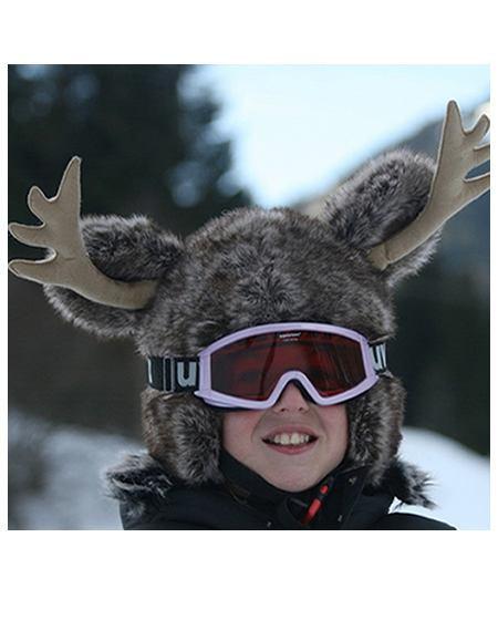 reindeer christmas ski helmet