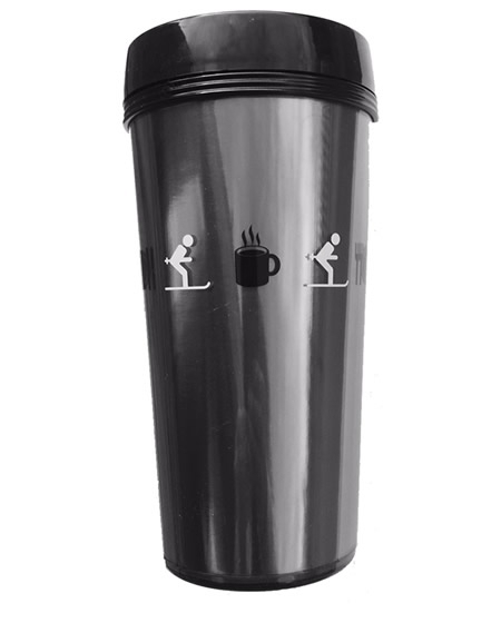 ski thermo travel mug