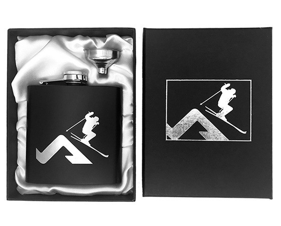 Snowboard hip flask