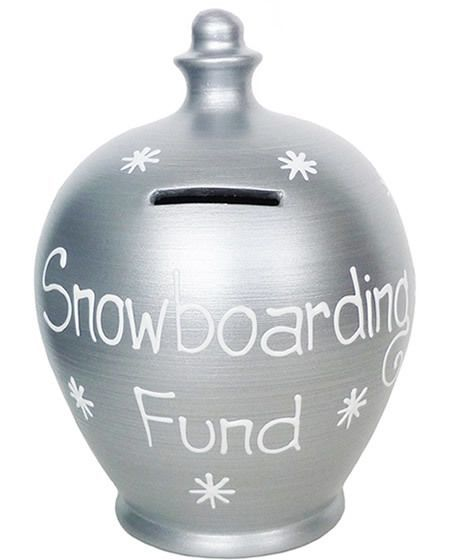 snowboard savings pot
