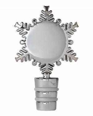 snowflake bottle stopper