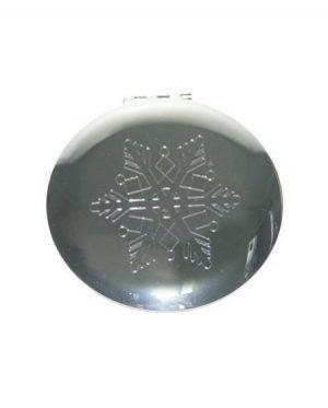 snowflake compact mirror